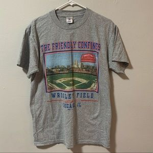 VTG Friendly confines of Wrigley field t shirt